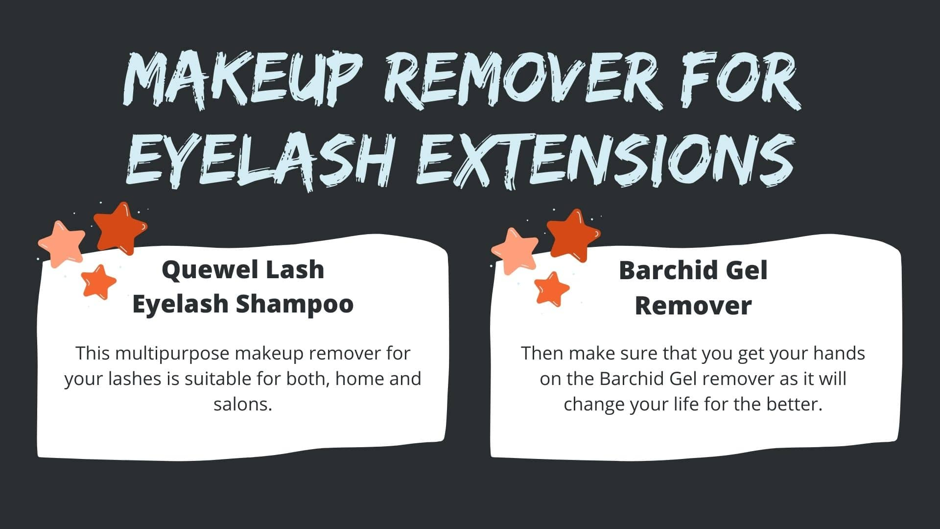 Makeup Remover for Eyelash Extensions