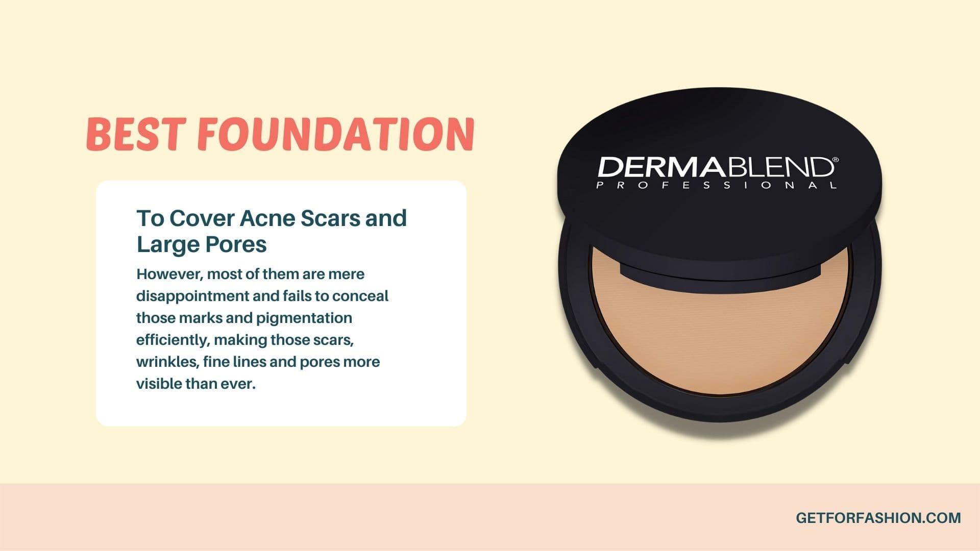 best foundation to cover acne scars and large pores